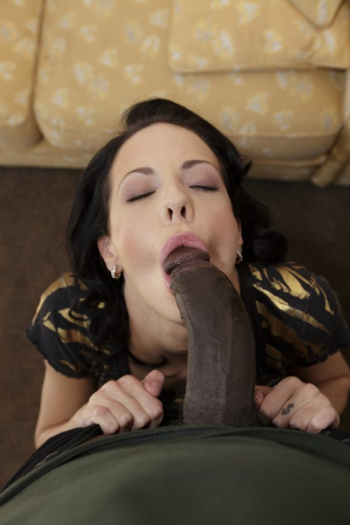 White Wife Forced To Suck Black Cock